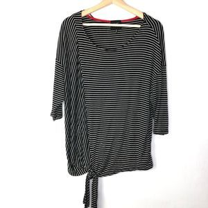 Anthropologie W5 Striped Tie Front Top